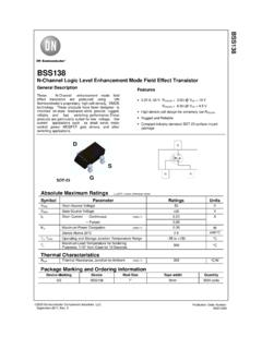 BSS138 N-Channel Logic Level Enhancement Mode …