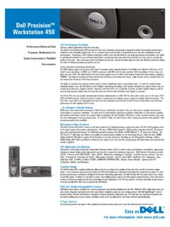 Dell PrecisionTM Workstation 450