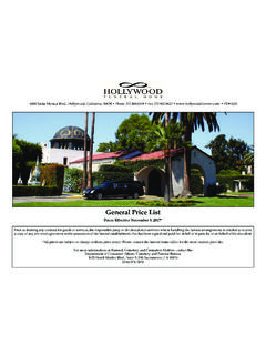 General Price List - Hollywood Forever Cemetery
