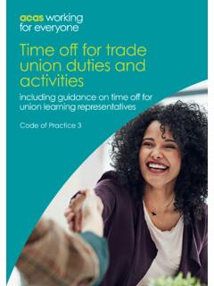Time off for trade union duties and activities - acas.org.uk