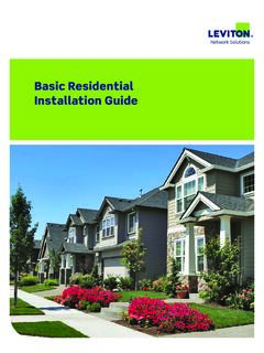 Basic Residential Installation Guide - Leviton.com