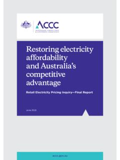 Restoring electricity affordability and Australia's ...