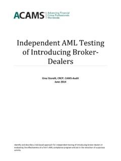 Independent AML Testing of Introducing Broker-Dealers