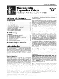October 2003 /BULLETIN 10-11 Thermostatic Expansion …