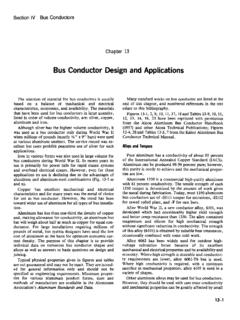 Bus Conductor Design and Applications - aluminum.org