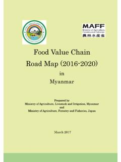 Food Value Chain Road Map (2016-2020) - maff.go.jp