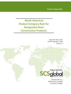 North American Category Rule for Steel Construction