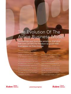 The Evolution Of The Airline Business Model - Austria