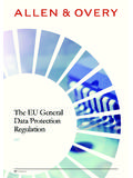 Preparing for the General Data - Allen & Overy