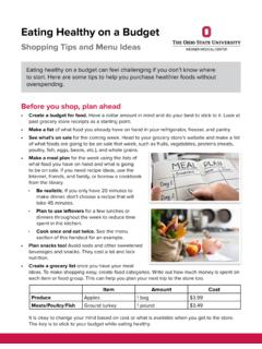 Eating Healthy on a Budget - patienteducation.osumc.edu