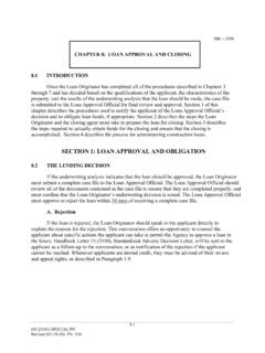 SECTION 1: LOAN APPROVAL AND OBLIGATION