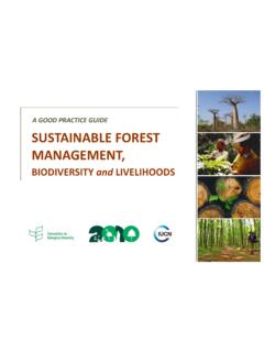 A GOOD PRACTICE GUIDE SUSTAINABLE FOREST …