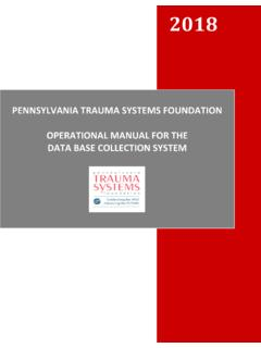 PENNSYLVANIA TRAUMA SYSTEMS FOUNDATION ... - ptsf.org