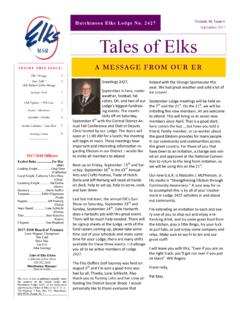 Hutchinson Elks Lodge No. 2427 Volume 48, Issue 6 ...