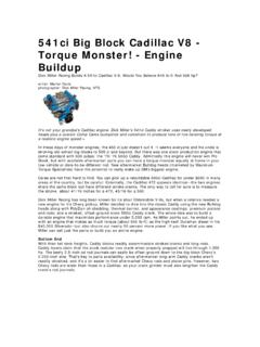 Engine Buildup - CFM Performance