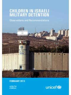 Children in israeli Military detention - Home page | …