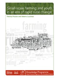 Small-scale farming and youth in an era of rapid rural change