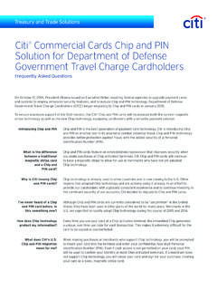 Citi Commercial Cards Chip and PIN Solution for …