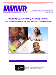 Providing Quality Family Planning Services - cdc.gov
