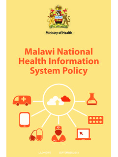 Malawi National Health Information System Policy