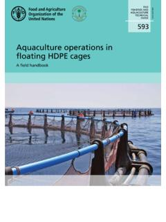 Aquaculture operations in oating HDPE cages
