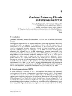 Combined Pulmonary Fibrosis and Emphysema …