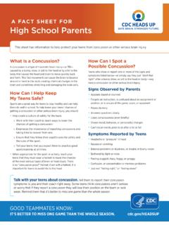 A Fact Sheet for High School Parents - cdc.gov