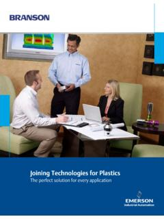Joining Technologies for Plastics - Emerson