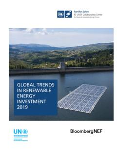 GLOBAL TRENDS IN RENEWABLE ENERGY INVESTMENT