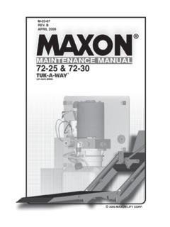 MAINTENANCE MANUAL 72-25 & 72-30 - …