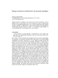 Design concepts in architecture: the porosity paradigm