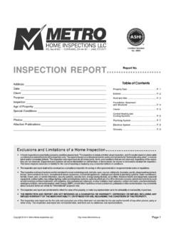 INSPECTION REPORT Report No.