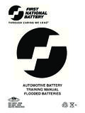 AUTOMOTIVE BATTERY TRAINING MANUAL FLOODED …