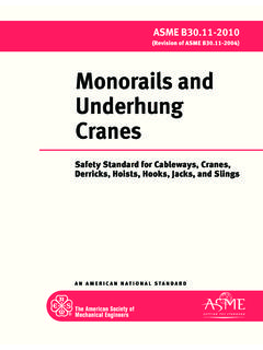 Monorails and Underhung Cranes - ASME