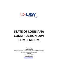 LOUISIANA CONSTRUCTION LAW - USLAW …