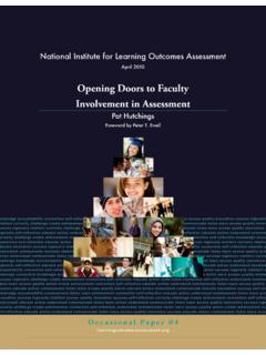 Opening Doors to Faculty Involvement in …