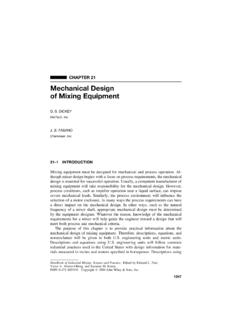 CHAPTER 21 Mechanical Design of Mixing Equipment