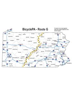 BicyclePA - Route G - dot.state.pa.us