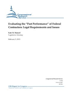 Evaluating the 'Past Performance' of Federal Contractors ...