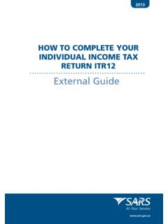 HOW TO COMPLETE YOUR INDIVIDUAL INCOME TAX …