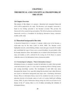 thesis sample chapter 2 conceptual framework