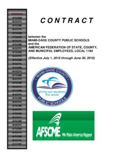 AFSCME C O N T R A C T AFSCME MIAMI-DADE COUNTY …