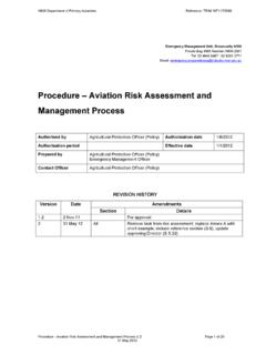 Procedure - Aviation risk assessment and management …