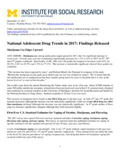 National Adolescent Drug Trends in 2017: Findings …