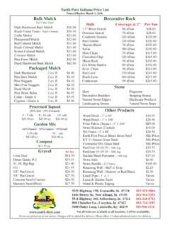 Earth First Indiana Price List