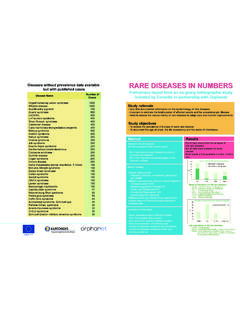 RARE DISEASES IN NUMBERS - European Commission