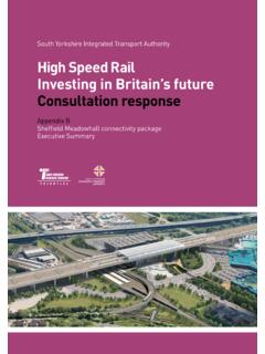 High Speed Rail Investing in Britain's future …