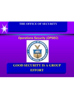 GOOD SECURITY IS A GROUP EFFORT - Department of …