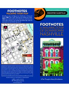 CU A WALKING TOUR OF DOWNTOWN NASHVILLE