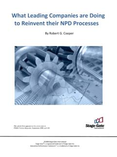 What Leading Companies are to Reinvent their NPD Processes